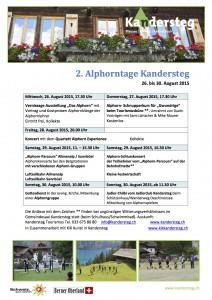 2. Alphorntage Kandersteg Programm