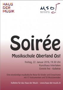 Soiree MSO 2016 Plakat