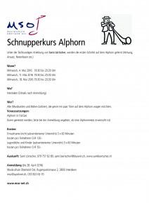 Schnupperkurs Alphorn A4