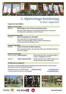 Alphorntage Kandersteg 2016