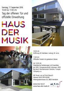 Haus der Musik Eröffnung Flyer